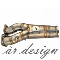ar design E-series 135i / 335i / 335xi 4(inch) Catless Downpipe (N55, 2011-)