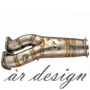 ar design E-series 135i / 335i / 335xi 4(inch) Catless Downpipe (N55, 2011-)