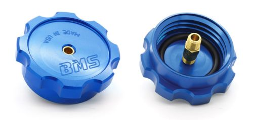 Billet WMI tank cap with safety check valve